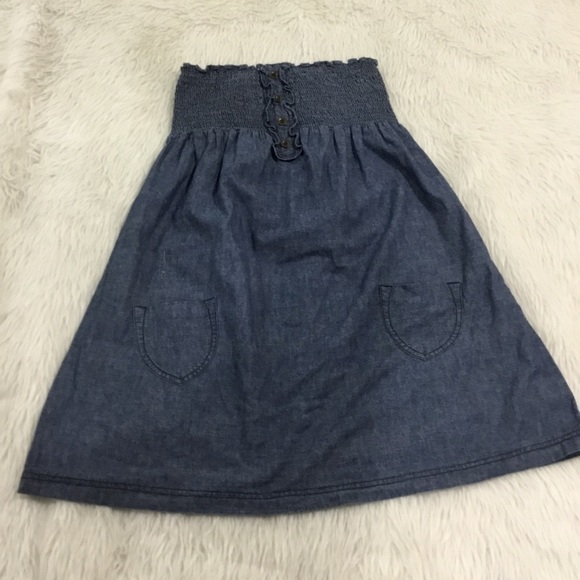 Mossimo Supply Co. Dresses & Skirts - Mossimo blue denim strapless summer dress